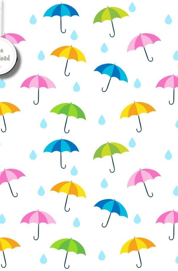 Sfondo ombrelli 4 colori free download