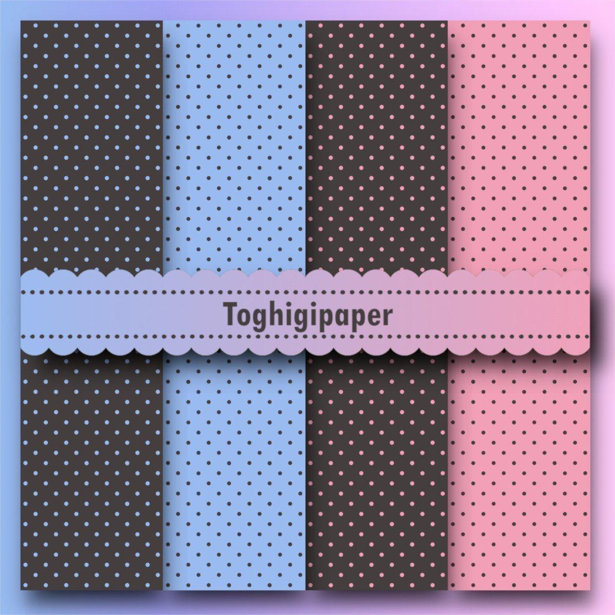 Sfondi E Patterns Pois Rosa Celesti Grigi Toghigipaper
