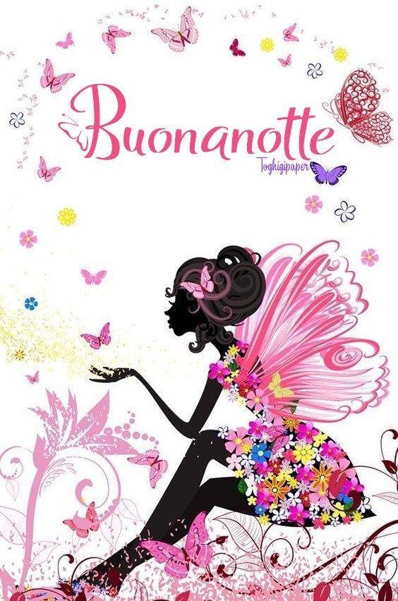Fata con fiori e farfalle