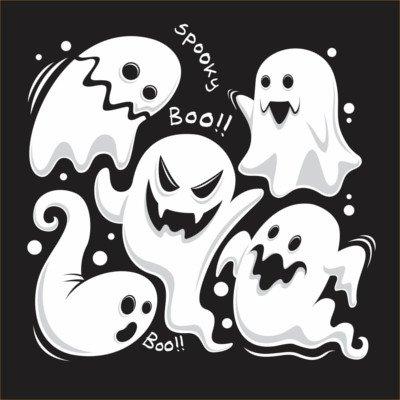 Sfondo Halloween fantasmi