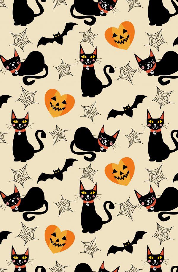 Sfondo Halloween gatto nero