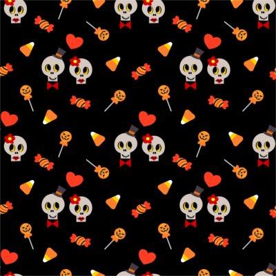 Sfondo Halloween teschio love