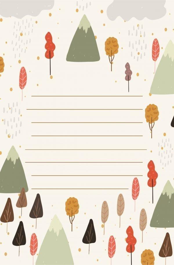 Carta da lettere autunno gratis