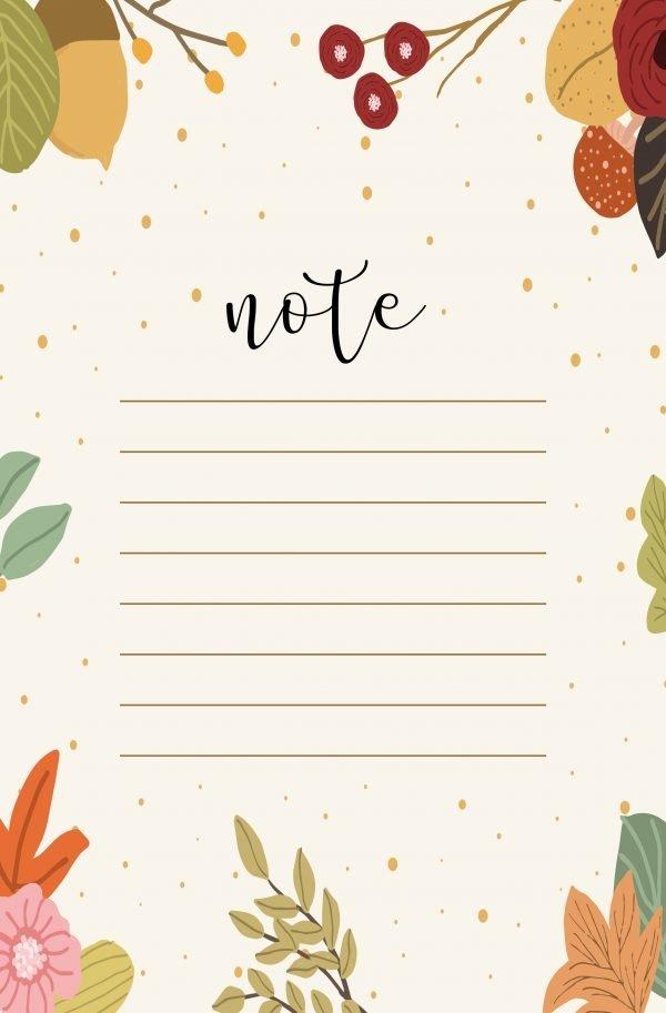 Carta da lettere autunno note gratis