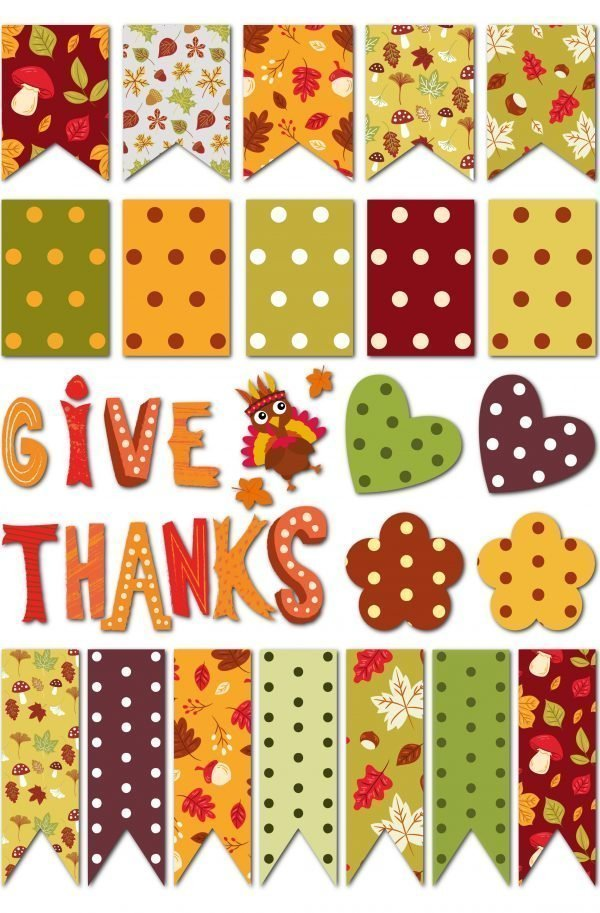 Thanksgiving cards for scapbooking